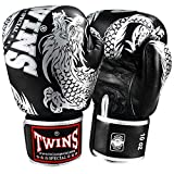 Twins Special Boxhandschuhe, Flying Dragon, schwarz-Silber