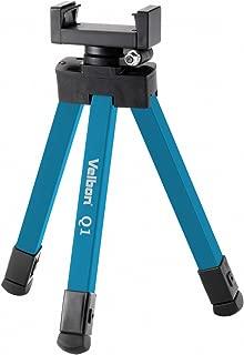 Velbon スマホ三脚 Q1 BLUE 8段 脚径16mm 小型 3Way雲台 アルミ脚 306548
