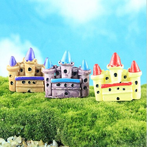 Bazaar Mini Castle figuur beeld DIY Bonsai Craft tuindecoratie Micro Landschap Ornament