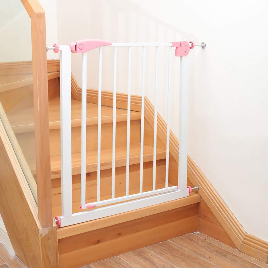 Ccgdgft Cerca de la Puerta de Seguridad for niños Puerta de barandilla de Escalera de bebé Seguridad del bebé Protector reja Perro Mascota Aislamiento Puerta Altura Corte Libre 76cm (Size : 57-64cm):