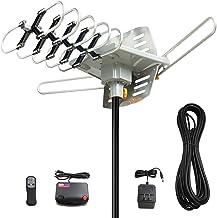 Vansky Outdoor 150 Mile Motorized 360 Degree Rotation OTA Amplified HD TV Antenna for 2 TVs UHF/VHF/1080P Channels Wireles...