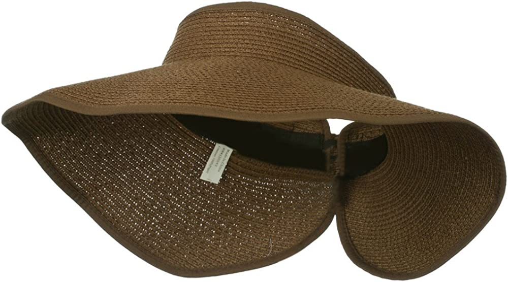 Jeanne Simmons UPF 50+ 2021 Bow Closure Brown Roll - W39S33D Fashion Visor Up