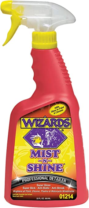 Wizards - Mist-N-Shine Professional Detailer, High-Gloss Car Detailing and Surface Cleaner Spray (22 oz.): image