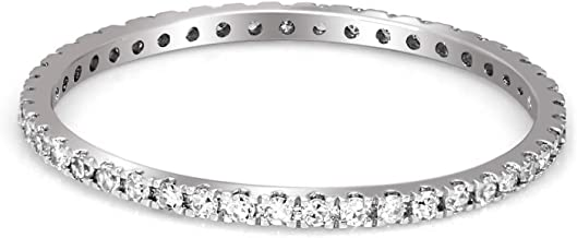 100% Pure Diamond Ring Luxury 1/4 cttw IGI Certified Lab Grown Eternity Diamond Engagement Rings For Women Lab Created Diamond Rings SI-GH Quality 14K Real Diamond Ring (Jewelry Gifts For Women)