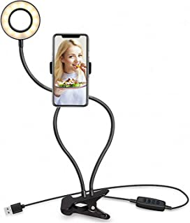 Light Stand for Live Stream, Selfie Ring Light with Mount