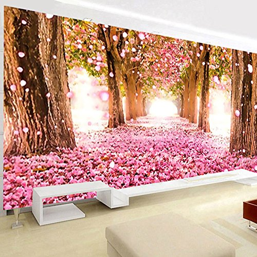 Large 5d Diamond Painting Full Drill Kits for Adults Cherry Blossom Diamond Cross Stitch 5d Crystal Art Round Diamond Embroidery Mosaic 3D DIY Paint by Numbers Decor 130 X 50 cm Diamond Painting