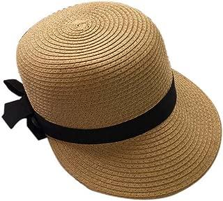 Duck Tongue Cap Straw Sun Visor Sun Hat Ladies Fashion Girls Hat(Light Brown)