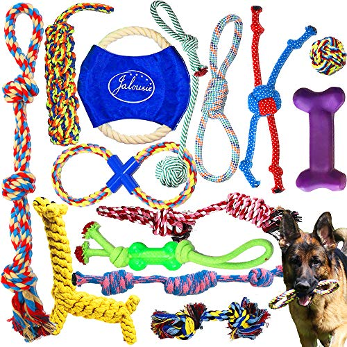 Jalousie 14 Pack Puppy Chew Dog Rope Toy Assortment for Small Medium Large Breeds