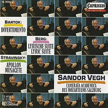 Bartok: Divernmento - Berg: 3 Pieces from the Lyric Suite - Stravinsky: Apollon Musagete