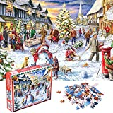 Jigsaw Puzzle 1000 Pieces for Adult, LANIAKEA Christmas Snowman Celebration Puzzles, Puzzle Game for Christmas Toy Gifts