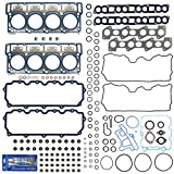 New MLS Cylinder Head Gasket Set (18mm) Compatible with 03-10 Ford 6.0L PowerStroke Diesel Turbo F-250 F-350 F-450 F-550 E350 E450 Super Duty