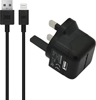 MFi Lightning Cable, Ultra-Compact 2.1A USB Wall Charger with 5ft USB,Black
