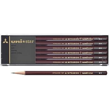 三菱鉛筆 鉛筆 ユニスター 2H 1ダース US2H