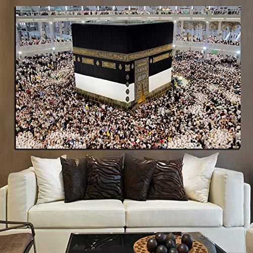 Pintura sin Marco Santuario de la Mezquita, Santuario islámico, Santuario de la Mezquita Musulmana en La Meca KaabaZGQ4340 40X60cm
