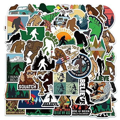 LSPLSP Aventura al Aire Libre orangután King Kong Dibujos Animados Graffiti Maleta Maleta portátil Pegatina para teléfono móvil decoración de Juguete / 50 Piezas