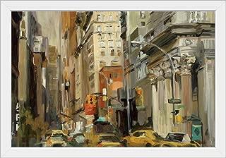 CANVAS ON DEMAND Union Square NY White Framed Art Print, 33