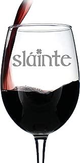 Slainte - Irish Cheers - Funny St Patricks Day Party Wine Glasses - Saint Patty's Decorations