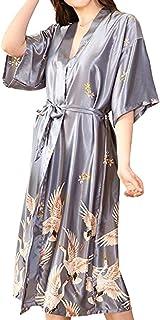 HX fashion Ladies Robes Bathing Men's Sets Silk Satin Pajamas Pajamas Pijamas Nightgown Night Classic Warming Sche Night D...