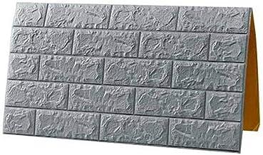 10 stks 3D Baksteen Muurstickers Zelfklevend Behang grijs Faux Brick Geweven Effect Achtergrond voor Wanddecoratie Dormito...