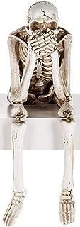 Ganz U.S.A. LLC Skeleton Shelf Speak No Evil Figurine for Halloween, Mardi Gras Carnival, or Everyday Spooky Decor