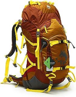 55L Camping Senderismo Mochila Marco Interno Mochila Impermeable Viajar Daypack Mochila De Alto Rendimiento para Mochilero, Senderismo, Camping para Mujeres Y Mujeres (3 Colores),Marrón