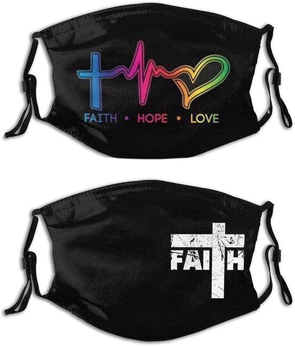 Fashion Art Mask Christian Cross Religion Jesus Face Mask Bandanas Balaclava Washable Reusable for Man Women