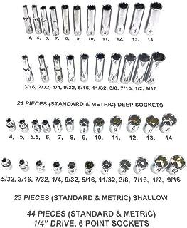 Craftsman 44 Piece Sae Standard & Metric Mm 1/4