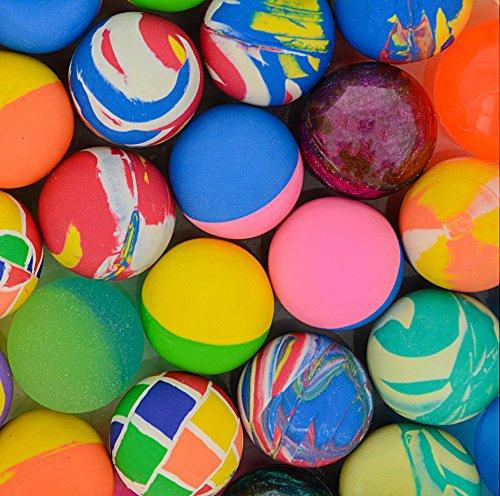 Storm & Lighthouse 50x Rubber Bouncing Balls - Partyartikel / Kinderspielzeug / lustige Geschenke (verschiedene Farben und Designs)