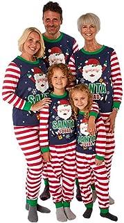 Pijamas De Navidad Familia, Conjunto de Pyjama Familia Navideños Pantalones y Top Larga 2 Piezas Ropa de Dormir Sleepwear Nightwear para Mujeres Hombres Niños Bebé