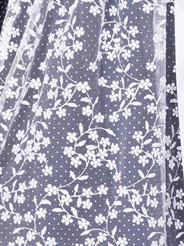 Marjo Dirndl Faralda dunkelblau weiß 58er Blumenmuster Spitzenschürze Perlen
