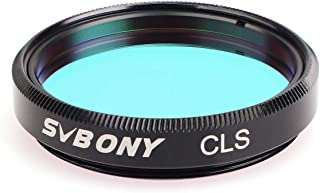 SVBONY 1.25 inches CLS Filter City Light Pollution Reduction Filter Broadband Filter Suitable for Deep Sky Visual Astronomical Photography