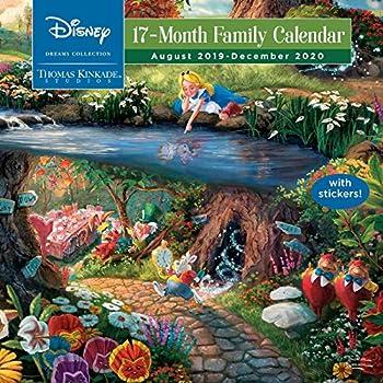 Thomas Kinkade Studios  Disney Dreams Collection 17-Month 2019-2020 Family Wall