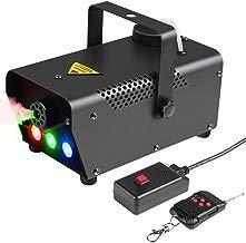 Máquina De Humo Control Remoto Inalámbrico Máquina De Humo con Luz LED De Color RGB - Equipo De Escenario para Halloween Wedding Bar Club De Fiestas De Navidad DJ