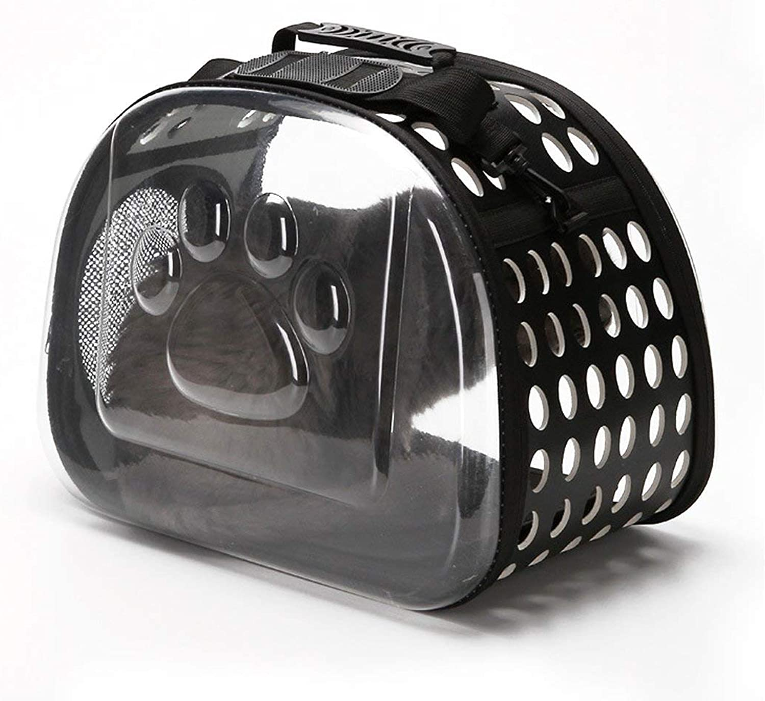 FuLanDe Top Loaded Pet Carrier for Cats and Dogs, Collapsible Made from Suitcase Material a Great Alternative to pet Kennel and Dog Carrier Purse