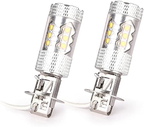 popular Mallofusa Pair H3 High Power 80W LED Fog Light Bulb Daytime Driving lowest Lamp high quality Bulbs DRL, White 6000K, 1920LM online sale