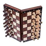 Square - Ajedrez de Madera - MAGNÉTICO - Tablero de ajedrez - 26,5 cm