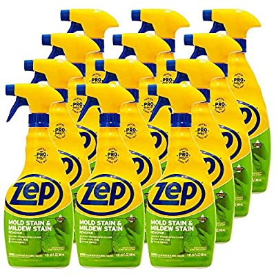 Zep Commercial Mold Stain and Mildew Stain Remover, 32 Fl Oz - Case of 12
