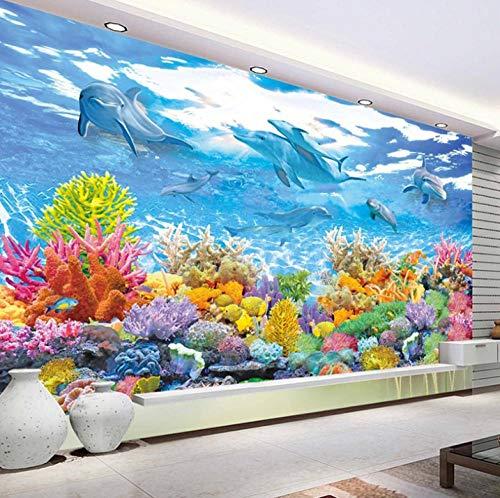 Dalxsh aangepaste fotobehang 3D onderwaterwereld muurschildering woonkamer kinderkamer slaapkamer muurschildering kinderkamer muurschildering 120 x 100 cm.