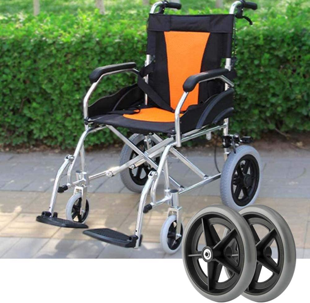 2 Pieces Import Wheelchair Limited time trial price Front Wheel Replacement Part 200mm Tool 8 I
