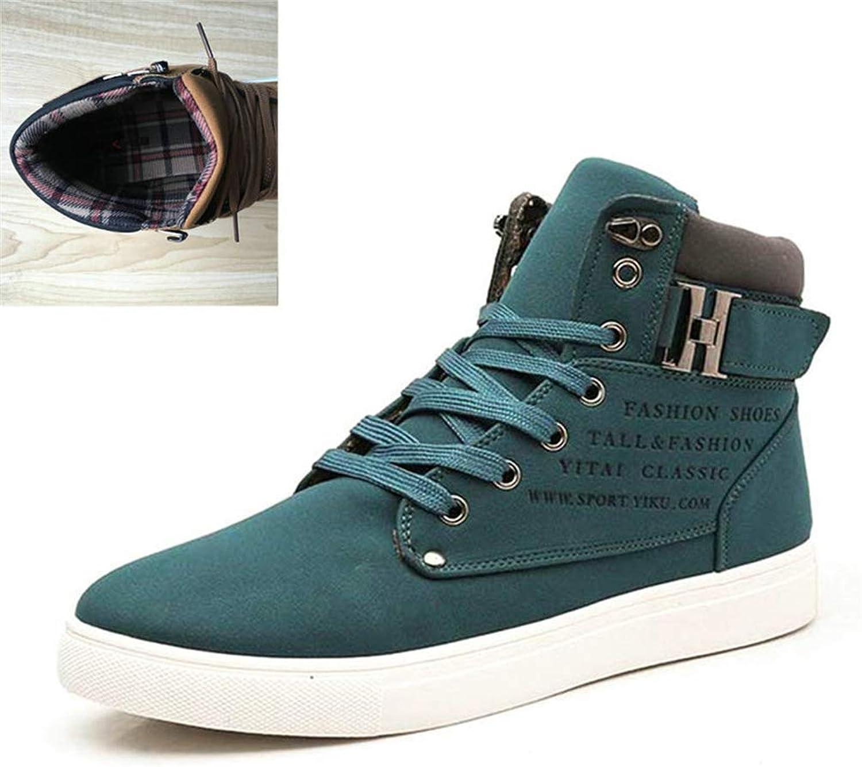 ZHRUI Männer Schuhe Mode Warme Pelz Winter Männer Stiefel Herbst Lederschuhe für Mann High Top Canvas Casual Schuhe (Farbe   Grün, Größe   6.540 EU)  | Beliebte Empfehlung