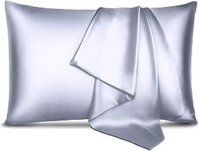 Funda de almohada de seda de morera 100 % pura para el cuidado del cabello y la piel, a prueba de alérgenos, de doble cara...
