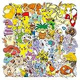 XXCKA 50 Dessin animé Elfe Pokémon Graffiti Autocollants Bagages Ordinateur Casque personnalisé Autocollants imperméables Peuvent être personnalisés
