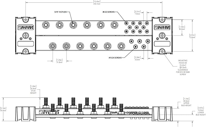 Blue Sea Systems 600a 1000a Powerbars Beige 600a Sport Freizeit