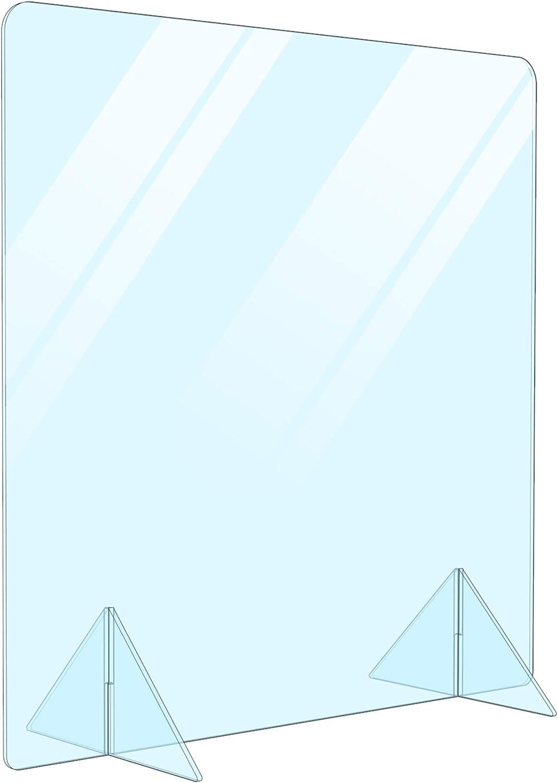 Portable Free 売れ筋ランキング Standing Acrylic Divider Shield Ba 受賞店 Desk Plexiglass