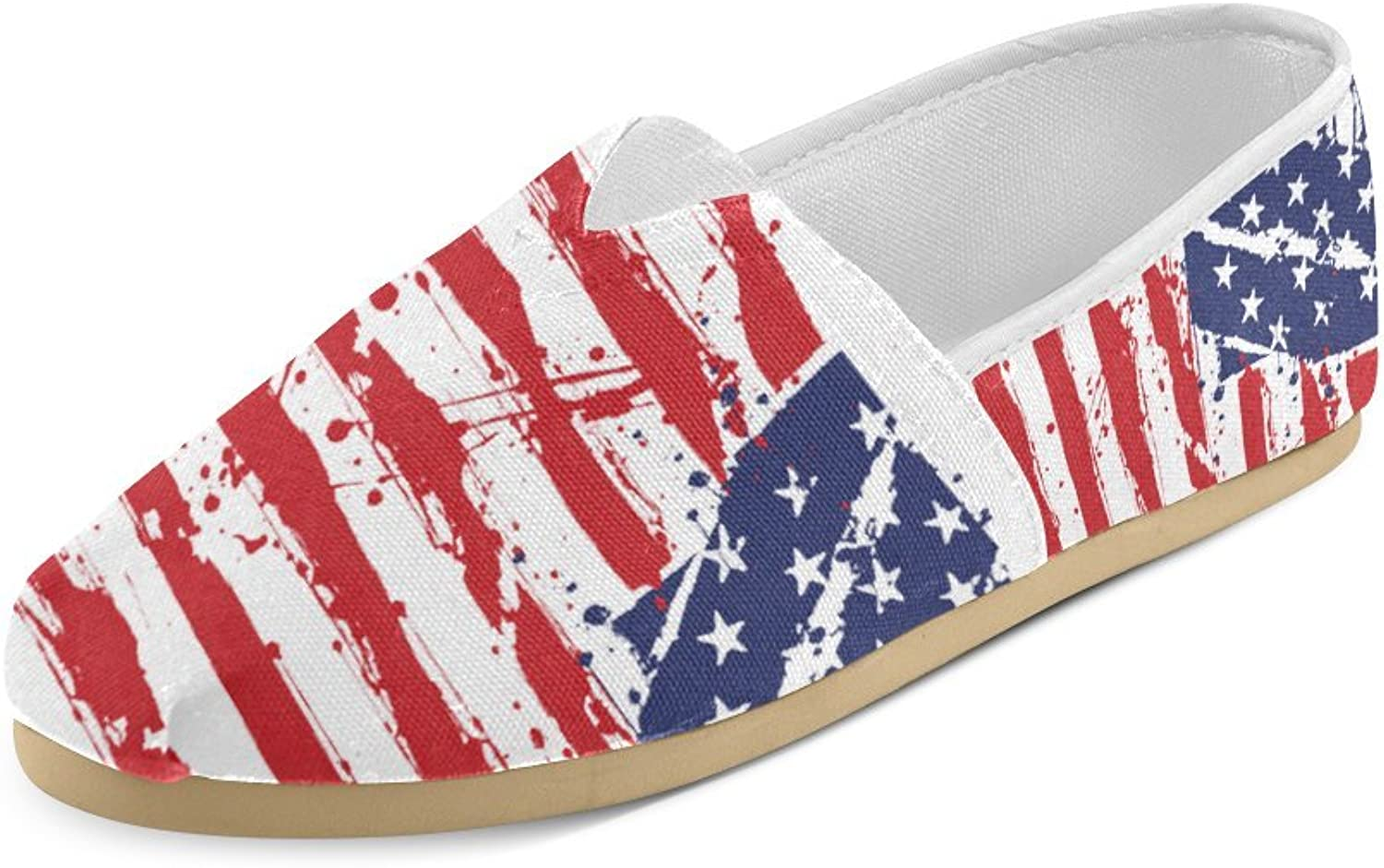 HUANGDAISY Unisex shoes American Flag Casual Canvas Loafers for Bia Kids Girl Or Men