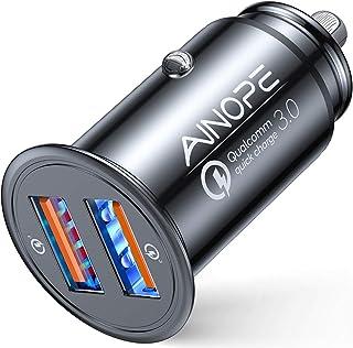 AINOPE シガーソケットusb, [デュアルQC3.0ポート] 36W/6A 超小型 [すべての金属] 高速車の充電器 車usb シガーソケット usb 急速充電 に iPhone 12 Pro Max/ 11 Pro Max/XR/X, ...