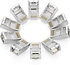 UGREEN 10 Unidades de Conector RJ45 Cat6 Blindados para Cable Ethernet Cat6 Cat5e Cat5 Gigabit Ethernet 1000Mbps, Clavija RJ45 para PC, Router, Switch