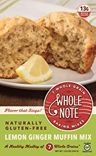 Whole Note Lemon Ginger Muffin Mix, 7-Whole-Grain and Naturally Gluten-Free (Pack of 3)
