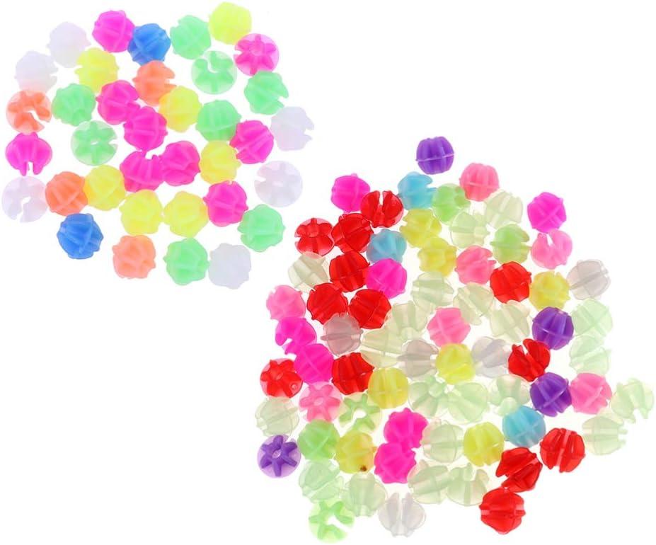 Clispeed 72 piezas de perlas para radios de radios, mariposa, estrella, Speichenklicker en la oscuridad, para bicicleta infantil, accesorios para niños, scooter, decoración de radios