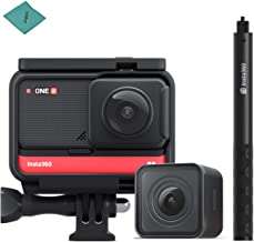$495 » Insta360 ONE R Twin Edition Dual Lenses Sports Action Camera Supports FlowState Stabilization Hyperlapse Voice Control Slow Motion Night Shot HDR Photo Video + Insta360 Invisible Selfie Stick